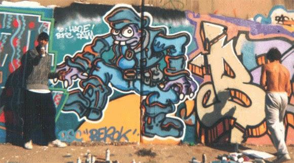 Graffiti con Bonc en el Prat de Llobregat