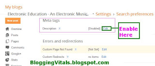 How To Unlock Meta Tags In Blogger