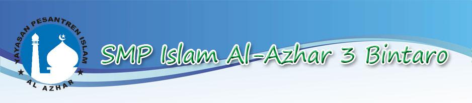 Blog SMP Islam  Al-Azhar 3 Bintaro