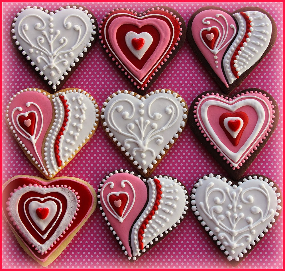 ten of the most beautiful valentine cookies - Decorated Valentine Cookies