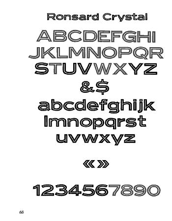 ronsard crystal font 1