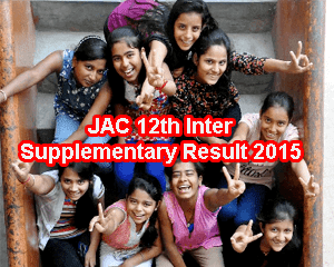 Jharkhand Board 12th Supplementary Result 2015 Declared Shortly. JAC Class 12 Arts, Commerce & Science Supplementary Results 2015, JAC Intermediate Supplementary Result 2015 announce at jac.nic.in/results