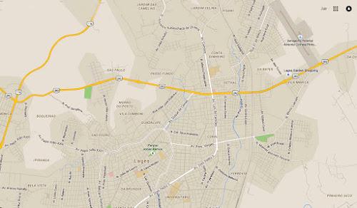 Mapa de Lages - SC