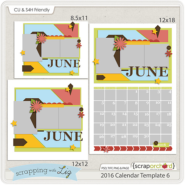 http://scraporchard.com/market/2016-Calendar-6-Digital-Scrapbook-Templates.html