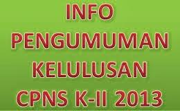 Link untuk Melihat Pengumuman Hasil Tes CPNS 2013