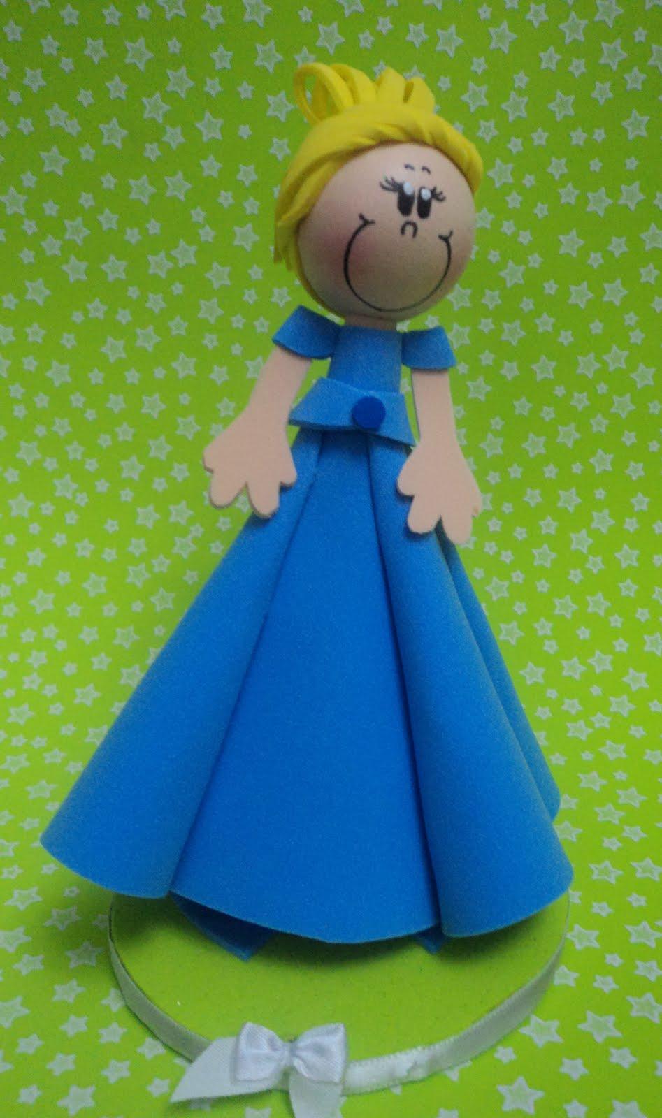 Mini Fofucha Princesa Cinderela