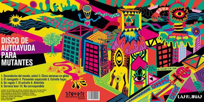 """Diseño para el vinilo de Las Ruinas """"Disco de autoayuda para mutantes"""""""