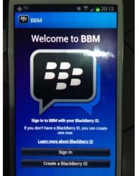Gambar BBM untuk Android di Samsung Galaxy S3