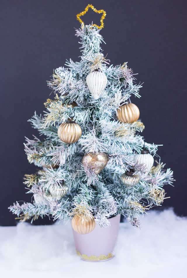 thrifty diy how to paint an artifical christmas tree design improvised - How To Paint A Christmas Tree