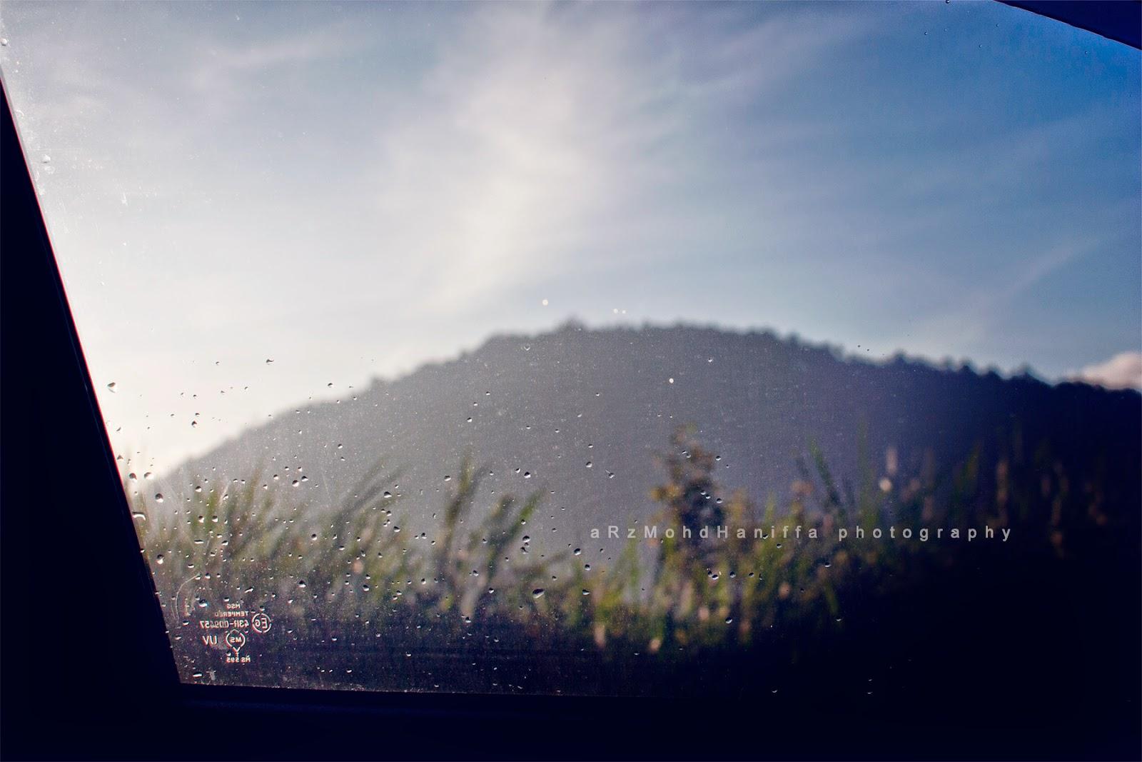photography, arzmoha, rain, hujan, gambar cantik, Gerik, Car, Hill, Bukit,