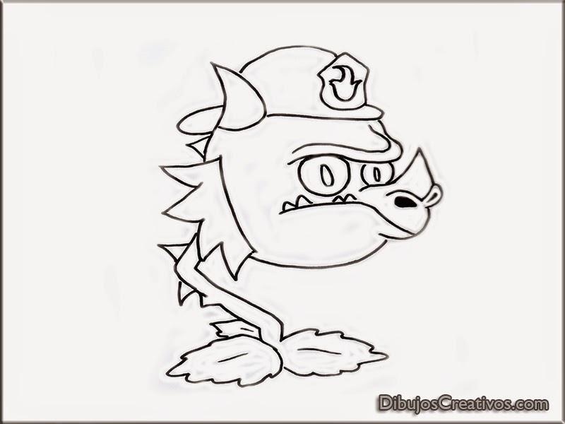 dibujos para pintar BOCA DE DRAGON BOMBERO