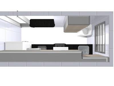 cozinha pequena de apartamento