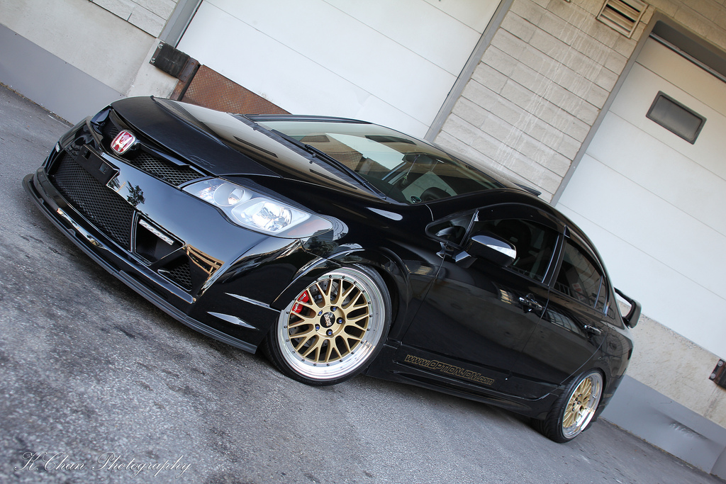 Modified black civic sport cars for Honda black car
