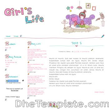 Girls Gift blogger template. cute design blogger template. cute blogpot template free