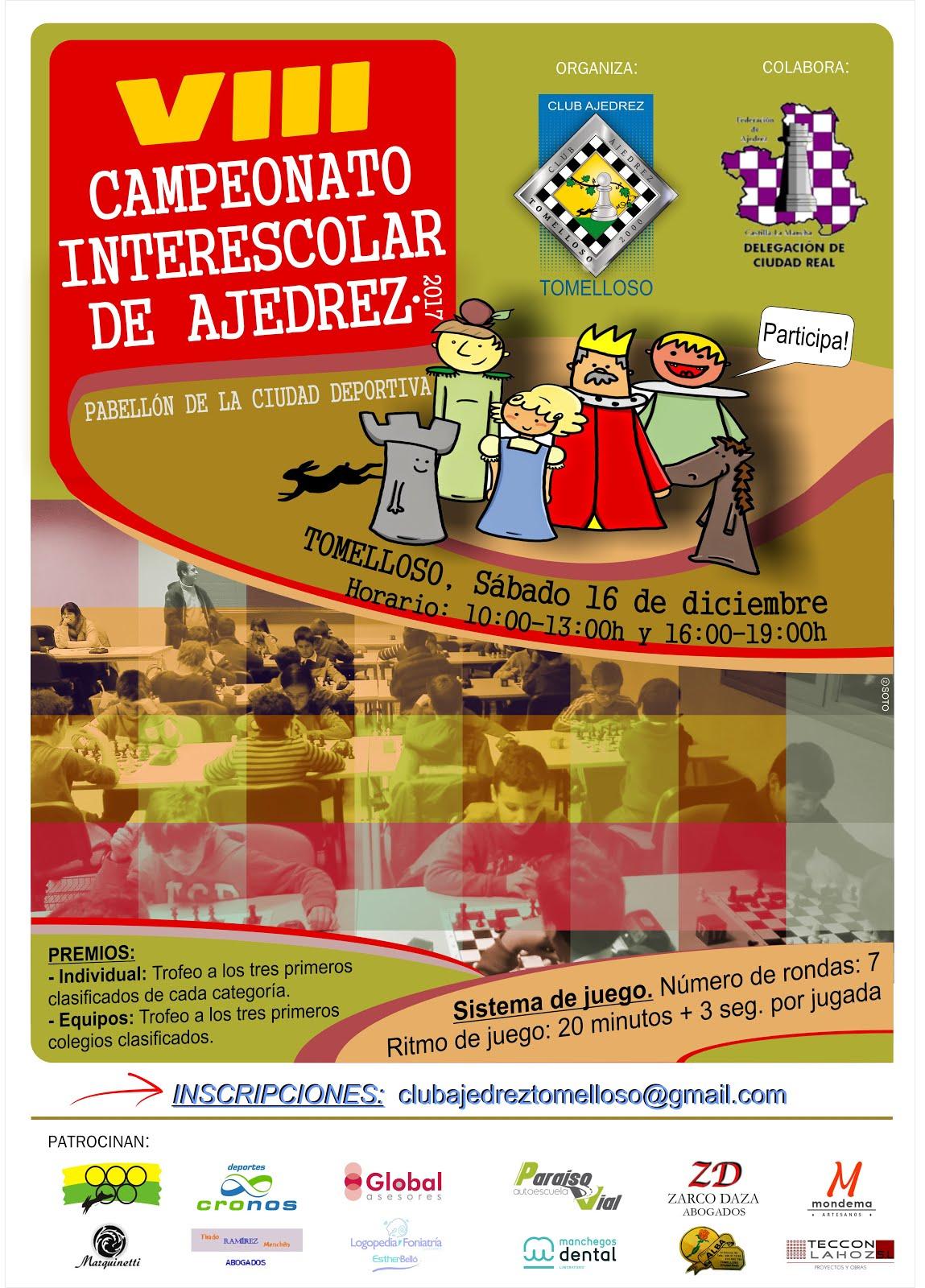VIII TORNEO INTERESCOLAR DE AJEDREZ