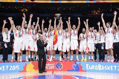 celebración España eurobasket marca