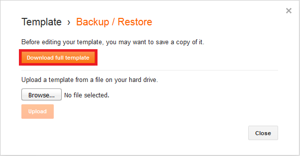 Cara Backup Template Blogspot