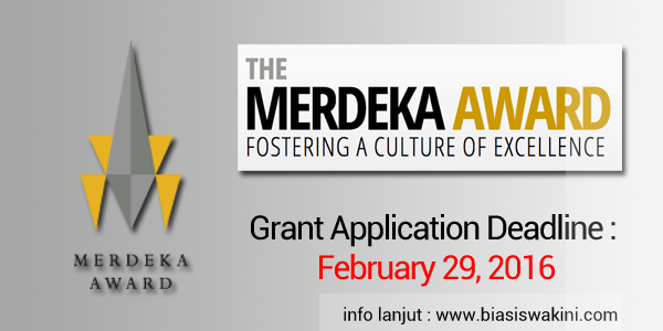 The Merdeka Award Grant 2016