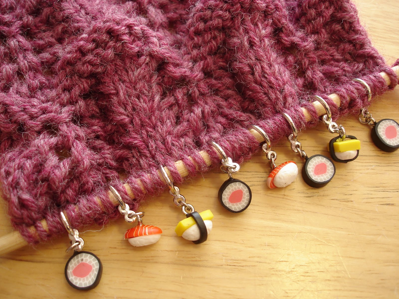 Knitting Stitch Markers How To Make : Fiber flux recycled jewelry stitch markers