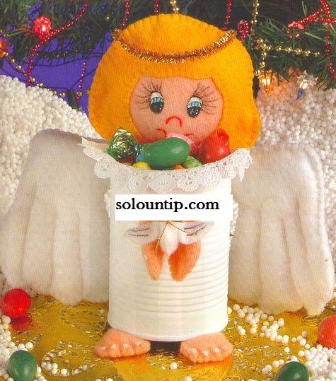 Baños Decorados Navidenos:Puedes hacer clic aquí y ver como hacer adornos con angelitos