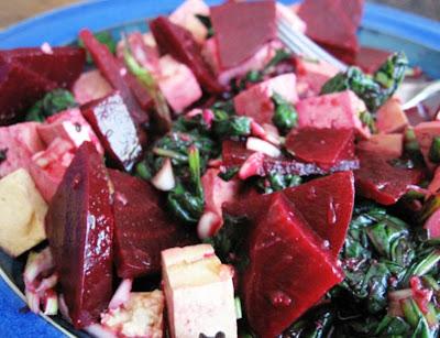 Asian Beet and Tofu Salad