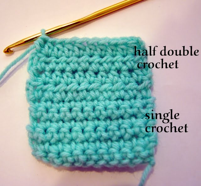 Double Crochet : Single Crochet vs Double Crochet Between The Single Crochet