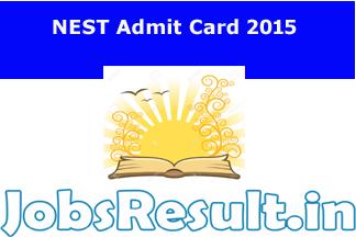NEST Admit Card 2015