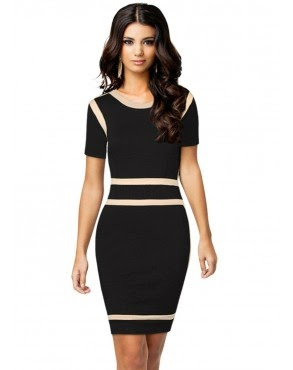 DressKode Black Panelled Bodycon Dress Review
