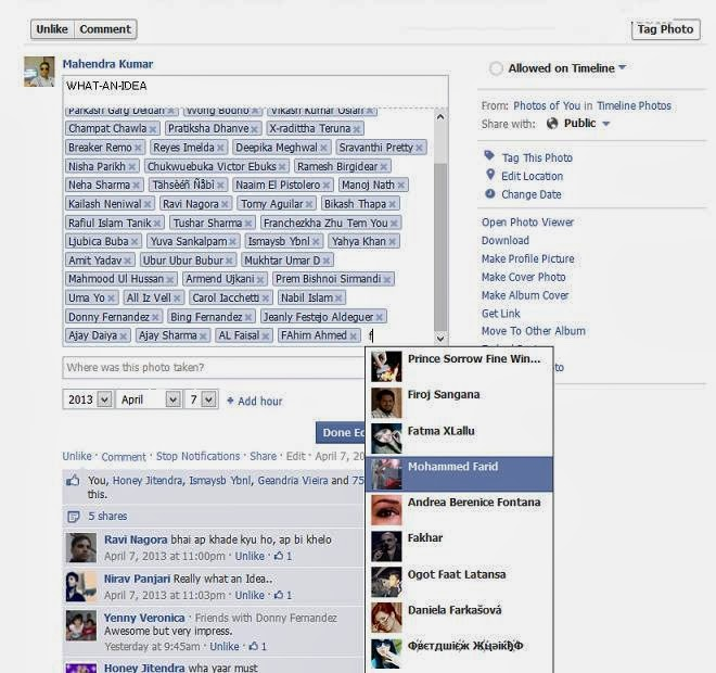How To Tag More Than 50 Friends on Facebook Photo 2014 image