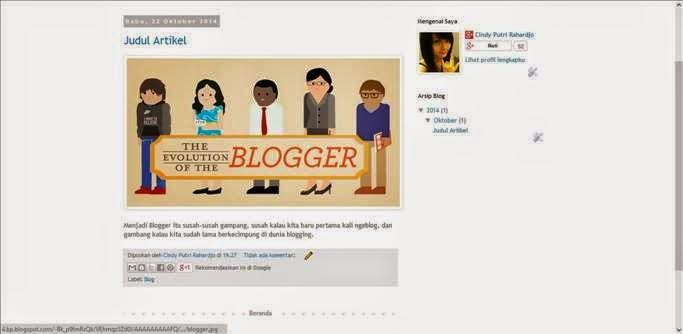 Cara Membuat Artikel di Blog gambar 4