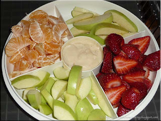 fruit tray with dulce de leche dip