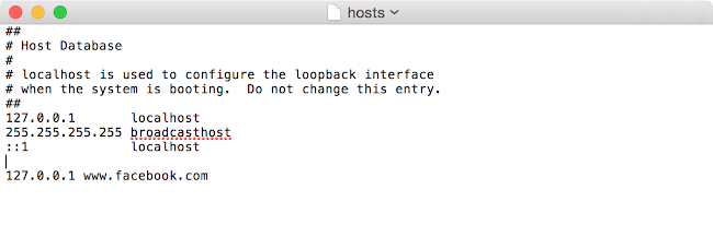 Edit Hosts Mac OS X