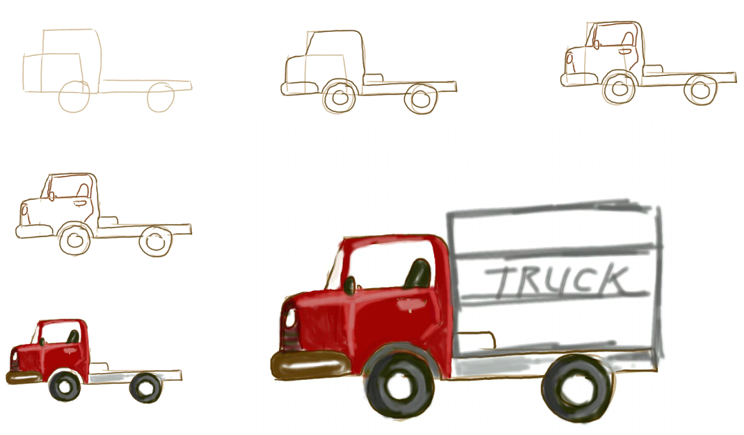 learn to draw blog: Truck