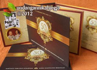 Undangan 50 tahun pernikahan emas