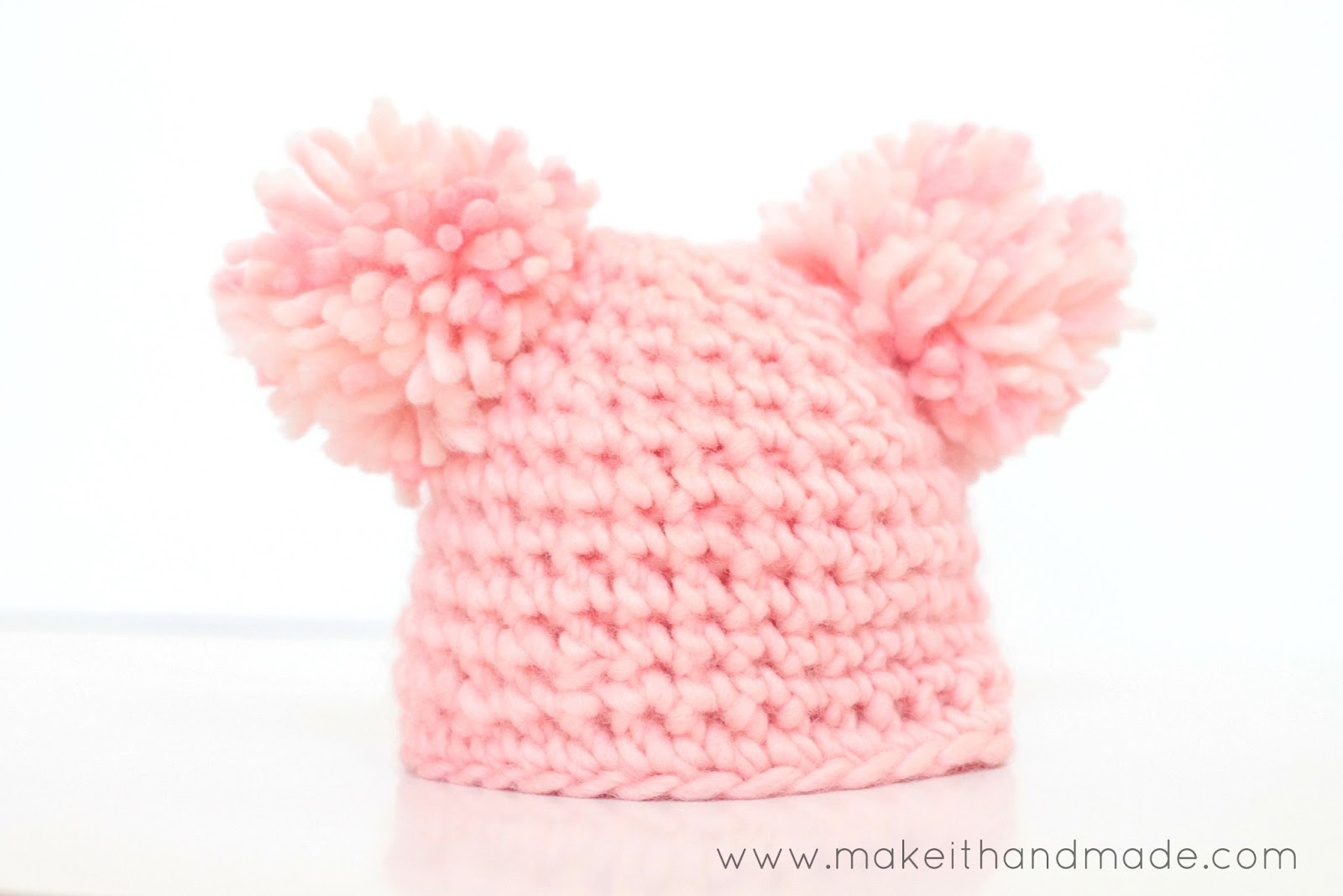 Free Crochet Pattern For Child Slouch Hat : Make It Handmade: The Bubble Gum Newborn Hat -- Free Pattern
