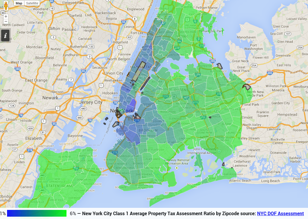 Timing: New York City Cl 1 Average Property Tax Payment by ... on