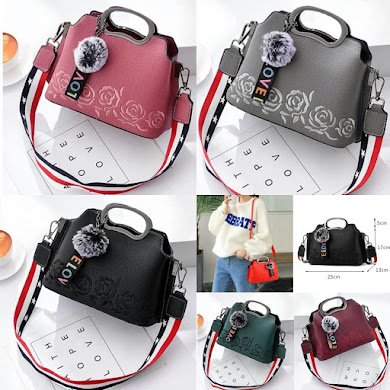 SLING BAG - ARMY GREEN , BLACK , DUSTY PINK , GREY , PURPLE