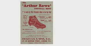 Arthur Rowe football boot