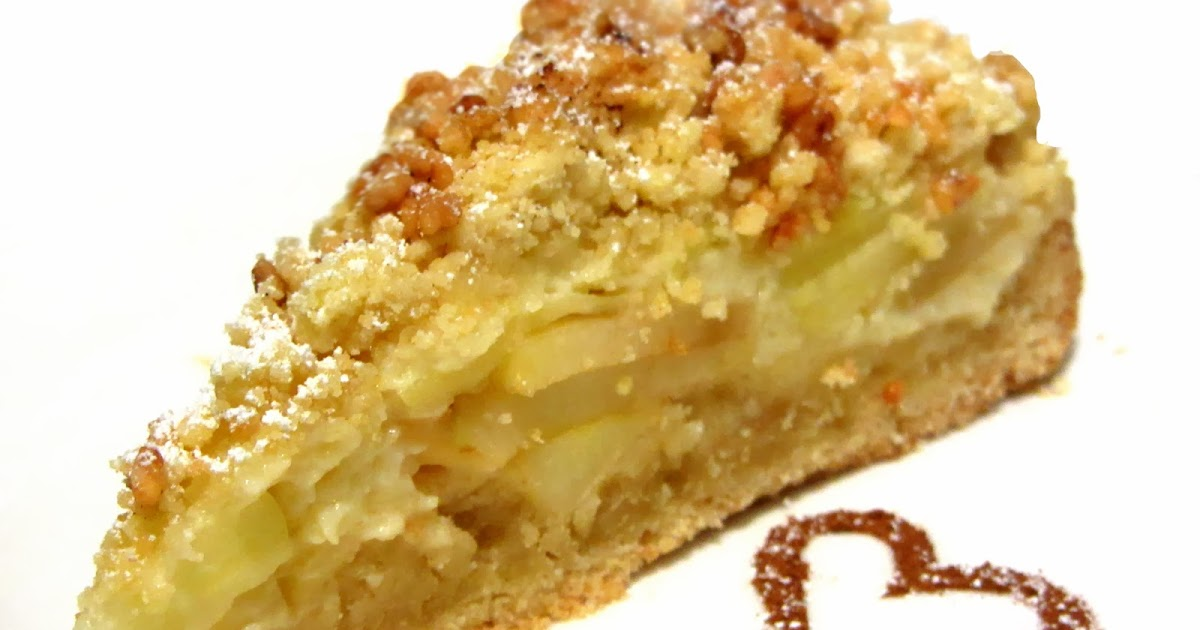 Veganer apfel pudding kuchen