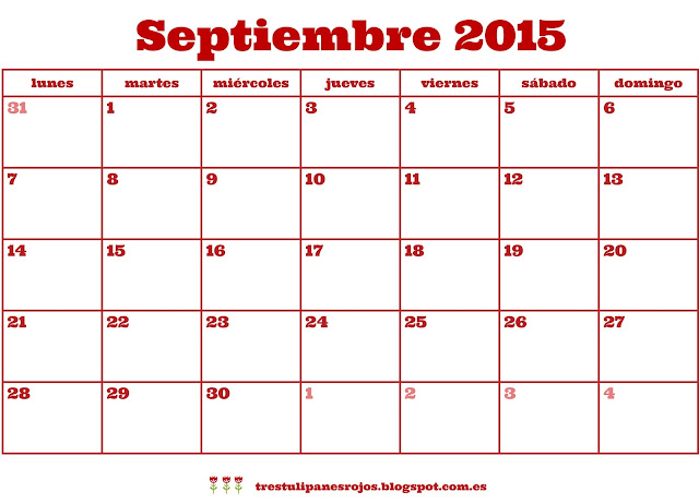 Bienvenido Septiembre!
