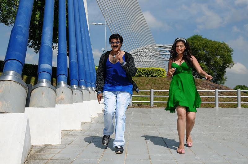 Hot Lakshmi Rai Adhinayakudu milky thunedr thighs cleavage spicy