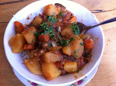 goulash on rice