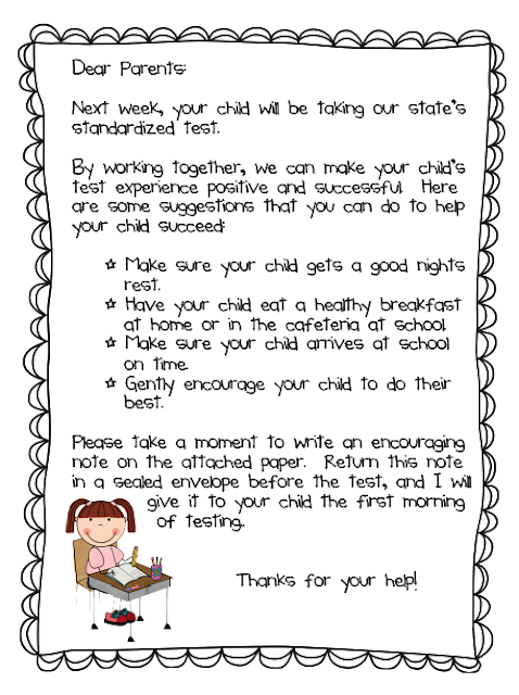 Extra Special Teaching: Standardized Testing Parent Letter (Freebie ...