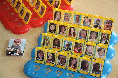 Personalized Guess Who Game ~ Rainy Day Activities for Kids {Weekend Links} from HowToHomeschoolMyChild.com