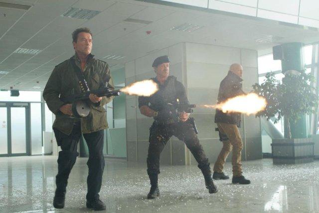 Arnold Schwarzenegger, Sylvester Stallone, Bruce Willis