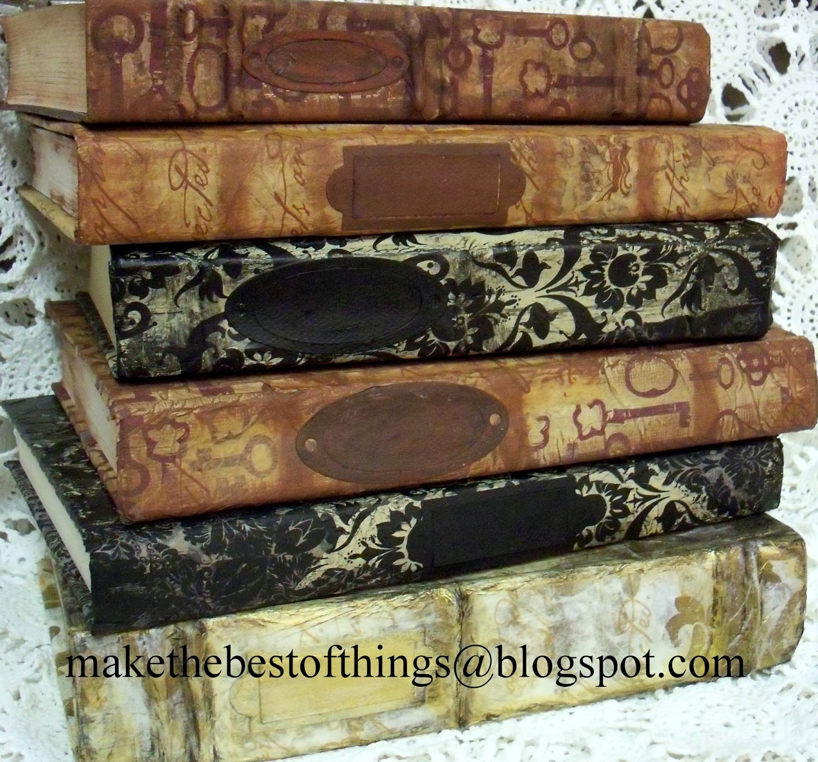 make the best of things how to restyle books to look like vintage