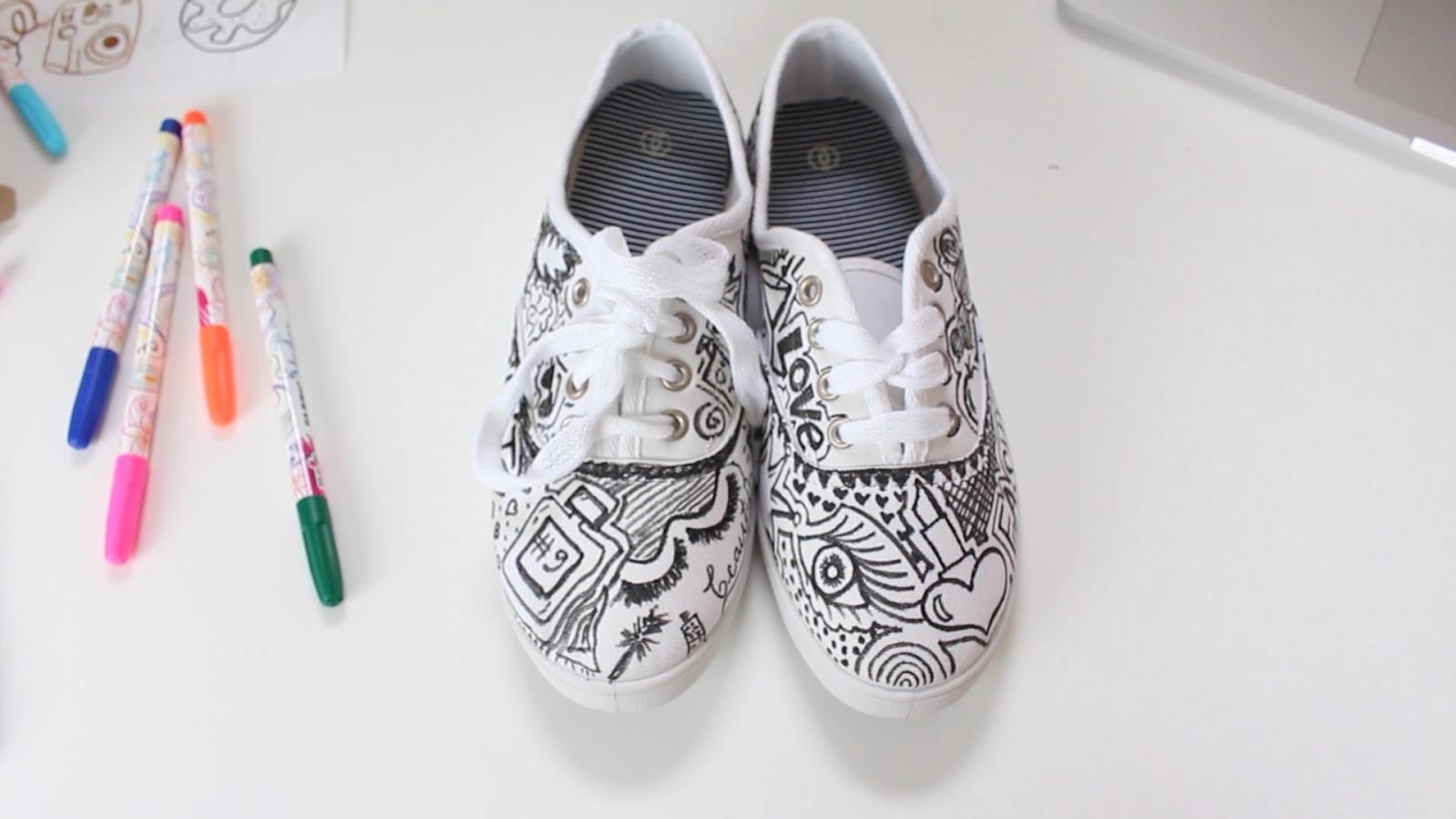 2 ideas para decora tus tennis zapatillas fashion riot - Figuras para decorar ...