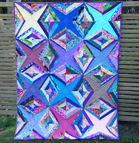Solid Stars and Strings Quilt