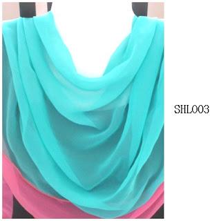 shawl halfmoon 2 layer turquoise