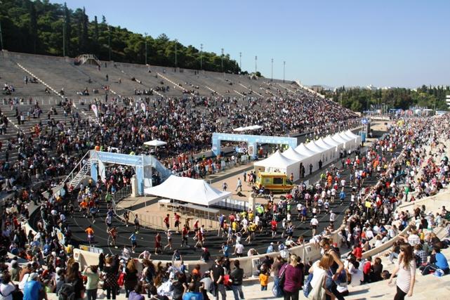 Marathon van athene het parcours in athene - Moderne overwinning ...
